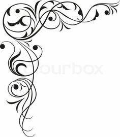 Illustration about Element for design, vector illustration. Illustration of registration, flower, image - 964414 Stencil Patterns, Stencil Designs, Embroidery Patterns, Filigree Design, Swirl Design, Molduras Vintage, Page Borders Design, Borders And Frames, Scroll Design