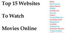 Top 15 Websites To Watch Movies Online