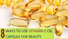Uses and benefits of Vitamin E Oil Capsule for Beauty. Vitamin E Oil Capsule can be used to make skin serum, eye cream, hair serum, foot cream, hand lotion Benefits Of Vitamin E, Health Benefits, Health Foods, Natural Cancer Cures, Natural Cures, Natural Beauty, Vitamins For Skin, Skin Serum, Cancer Treatment