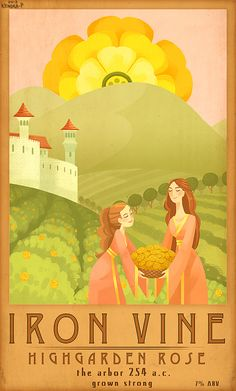 Wine labels based on wines in the A Song of Ice and Fire series!