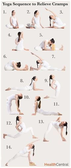 Yoga poses, or asanas, are excellent for building strength and flexibility, and losing weight. They're fun too! Here are 15 very popular yoga poses. Yoga Fitness, Fitness Workouts, Sport Fitness, Fitness Diet, Health Fitness, Yoga Inspiration, Hata Yoga, Remedies For Menstrual Cramps, Menstrual Yoga