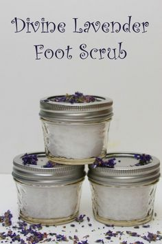 Relax with DIY Lavender Foot Scrub | OurFamilyWorld