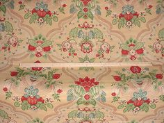 1-1/4 yards Lee Jofa 2001124 Palazzo in Coral - Floral Luxury Linen Print Drapery Wallcovering Upholstery Fabric - Free Shipping