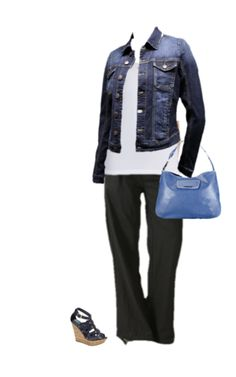 It's almost Spring and we are breaking out the denim jacket and sandals! Pair them with our great linen pants and add a handbag with a pop of colour!