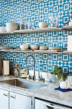 Vibrant mosaic tile backsplash - 13 Beautiful Backsplash Ideas to Add Character to Your Kitchen