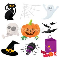 Halloween Icons Royalty Free Stock Vector Art Illustration