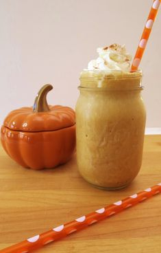 A frozen blended coffee drink that is creamy, sweet, tastes just like pumpkin pie, and is only 46 calories.