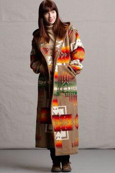 Reversible Long Coat, Chief Joseph, Khaki