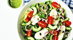 Pasta Salad Recipes, Veggie Recipes, Salade Caprese, Chutney, Love Food, Food Porn, Food And Drink, Veggies, Snacks