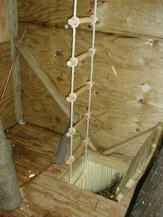 Make the ladder long and run it to the ceiling so it's easier to get up through the trap door.
