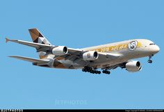 Etihad New Special Livery Year Of Zayed. A6-APH. Airbus A380-861. JetPhotos.com is the biggest database of aviation photographs with over 3 million screened photos online! Airbus A380, Passenger Aircraft, Commercial Aircraft, Photo Online, Planer, Photographs, Photos, Military, Airplanes