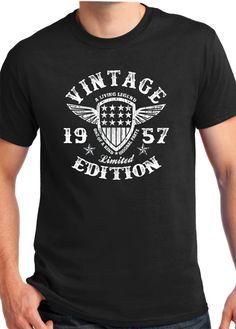 1957 Birthday shirt  birthday Gift VINTAGE 1957 Shirt  by BluYeti
