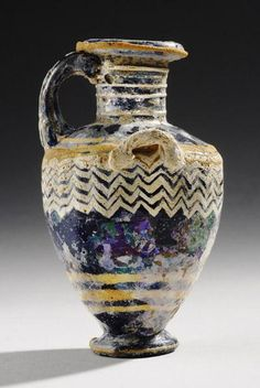 Hellenistic Core- Formed Glass Hydria   4th Century BC   Price $10,000.00   Greek, Hellenistic Greek   Glass   Vessels   eTiquities by Phoenix Ancient Art