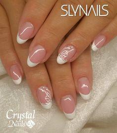 faded french nails With Diamonds Glitter Nail Art, Gel Nail Art, Acrylic Nails, Nail Polish, Cute Nails, Pretty Nails, My Nails, Fingernail Designs, Nail Art Designs