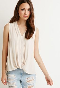 Contemporary Pleated Chiffon Blouse | Forever 21 - 2000184673