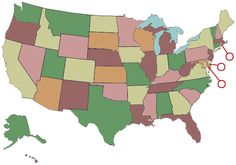 Test your geography knowledge: American states geography quiz