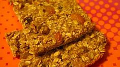 Post Workout Granola Trail Mix Bars