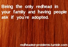 I'm the brunette in the sea of red-heads! People always asked if my sisters and I had the same father