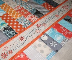 Love the colors and the endless possibilities for this modern quilt design