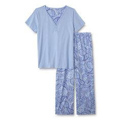 11554ba945 Laura Scott Laura Scott Women s Pajama Top  amp  Pants - Paisley Pajama  Top