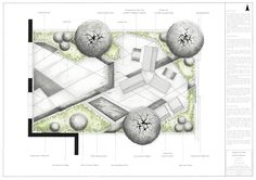 Designer: Agata Byrne, Masterplan, Rendered, Design 1, Residential Garden, Inchbald School of Garden Design, October 2014