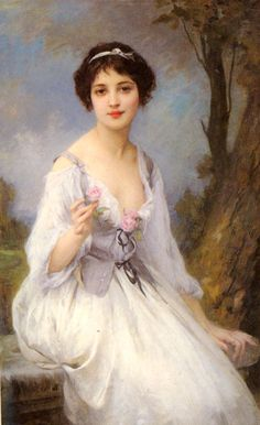 Charles Amable Lenoir ~ The Pink Rose ~ (French: 1860-1926)