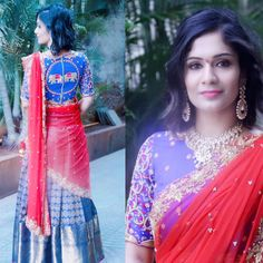 Beautiful girl @prema Chowdary in Mugdha s!!!check out the intricately made blouse from our team!! 28 November 2016