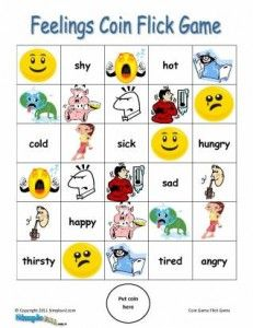 Feelings and Emotions ESL Game – Printable English Coin Flick Activity | English Worksheets, Lesson Plans, Activities, Games, Puzzles
