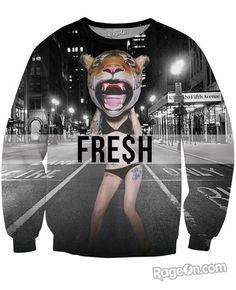 RageOn Clinton Sparks Heart on My Sleeve Crewneck Premium All Over Print Sweatshirt