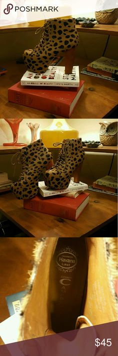 Leopard print booties!! These are the boots your mother warned you about...clearly out for trouble. ;) Sexy meets funky means it's going to be hard for anyone to not take notice of you in these. Jeffrey Campbell Shoes Ankle Boots & Booties