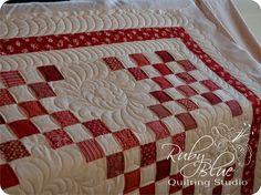 Amy's Red & White Irish Chain Quilt