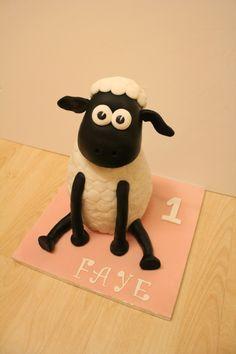 Giant Shaun the Sheep cake