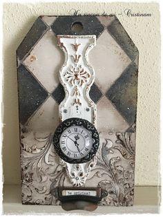 Un rincón de mi: Tutorial como decorar tirador con motivo reloj y moldes.
