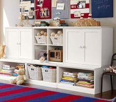 2nd flr retreat/playroom---shelves at pottery barn.