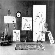Drawing Unique Saul Steinberg - that rare thing in the visual arts - a mixture of aesthetic genius and humour! Art Photography, Drawings, Amazing Art, Painting, Saul, Illustration Art, Visual Art, Art Inspiration, Saul Steinberg