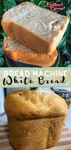 The easiest bread machine bread recipe ever! Accidentally vegan, this white bread is super fluffy and thick, just like bread maker bread should be! Fluffy White Bread Machine Recipe, Vegan Bread Machine Recipe, White Bread Machine Recipes, Bread Maker Recipes, Breadmaker Bread Recipes, Vegan Junk Food, Vegan Snacks, Vegan Desserts, Snack Recipes