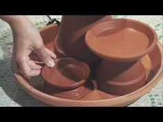 Terra Cotta Fountain - How To Build - Menards I immediately went to my local home improvement store looking for supplies. Very slim pickings. It is on my to-do list. Tabletop Water Fountain, Indoor Water Fountains, Indoor Fountain, Small Fountains, Garden Crafts, Garden Projects, Diy Projects, Clay Pot Crafts, Easy Home Decor