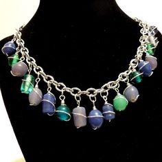 #Spring and #Summer #Beaded #Cage #Dangle #Necklace #Handmade | @Debbie Hanson - #Jewelry on #ArtFire