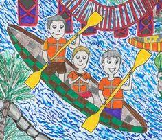 Art contest for kids Art Drawings For Kids, Drawing For Kids, Easy Drawings, Art Lessons For Kids, Art For Kids, Drawing Scenery, Magazines For Kids, Korean Art, Art Festival
