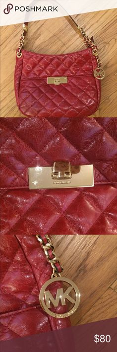 Michael Kors red quilted patent leather purse. Michael Kors red quilted patent leather purse. NWOT. Dust bag included KORS Michael Kors Bags Shoulder Bags