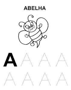 JARDIM COLORIDO DA TIA SUH: Atividades com as vogais para imprimir Printable Preschool Worksheets, Tracing Worksheets, Alphabet Worksheets, Finger Plays, Step Kids, Kids Education, Homeschool, Lettering, Malu