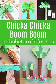 35+ Chicka Chicka Boom Boom Activities Foam Letters, Plastic Letters, Wooden Letters, Teaching The Alphabet, Learning Letters, Kids Learning, Alphabet Stamps, Alphabet Cards, Science Activities