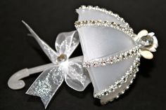 wedding favors Frosted White Umbrella  12 Pieces wedding favors by FavorsBoutique, $50.00