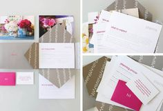 Stems welcome packet designed by Stitch Design Co.  Great inspiration for a promotion for event planner, florist or photographer!