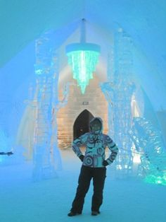 The Ice Hotel in Quebec offers Frigorific Fun.