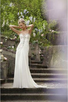 Timeless Sweetheart Sheath Column Organza Bridal Wedding Dresses