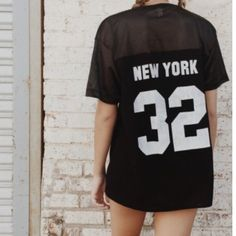 """Brandy Melville New York """"32"""" Jersey Top Brand new with tags, never worn! Brandy Melville Tops Tees - Short Sleeve"""