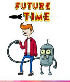 Mashup Adventure Time and Futurama Adventure Time Tattoo, Tatuagem Adventure Time, Geeks, Adventure Time Crossover, Sketch Manga, Finn The Human, Jake The Dogs, Idole, Smosh