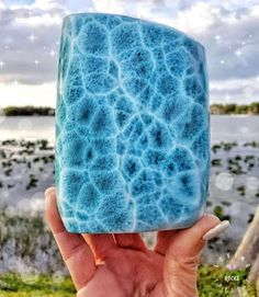 Larimar: The Blue Stones of Atlantis Minerals And Gemstones, Crystals Minerals, Rocks And Minerals, Stones And Crystals, Blue Stones, Silicate Minerals, Stop Staring, White Witch, Rocks And Gems