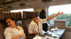 Rita Ora on Eurostar whilst coming back from our Holiday